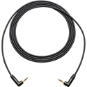 Sescom LOPRO-MPSRA-18IN Audio Cable Star-Quad 3.5mm Stereo Right Angle Male to Right Angle Male - 1.5 Foot