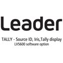 Leader LV5600-SER27 TALLY - Source ID / Iris / Tally Display for LV5600 (software)