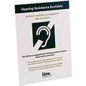 Listen Technologies LA-303 Multi-Lingual Assistive Listening Notification Sign