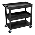 Luxor EC112-B Three Shelf Utility Cart