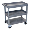 Luxor EC112HD-G Three Shelf Utility Cart