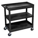 Luxor EC121-B Three Shelf Utility Cart