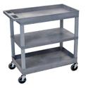 Luxor EC121-G Three Shelf Utility Cart