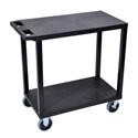 Luxor EC22HD-B Two Shelf Utility Cart