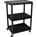 Luxor LE48-B 48 Inch Endura A/V Cart - Three Shelves