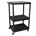 Luxor LE54-B 54 Inch Endura A/V Cart - Three Shelves