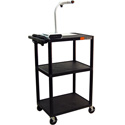 Luxor LP42E-B Plastic AV Cart / Presentation Table w/Electric 42Hx24W