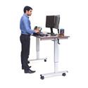 Luxor STANDUP-CF60-DW 60 Inch Crank Adjustable Stand Up Desk