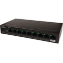 Luxul SW-100-08P 8-Port Gb PoE Unmanaged Ethernet Switch with Uplink - 92 Watt