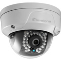 LevelOne FCS-3084 GEMINI Fixed Dome IP Network Camera - 2MP - 802.3af PoE - Vandalproof - IR LEDs - Indoor/Outdoor