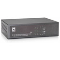 LevelOne FEP-0812 8-Port Fast Ethernet PoE Switch - 802.3at/af PoE - 4 PoE Outputs - 65W