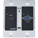 Intelix AS-1H1V-WP-B HDMI/VGA Auto-Switching/Scaling Wallplate with HDBaseT Output - Black