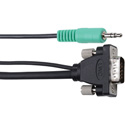 Liberty Wire and Cable 6 Foot Micro VGA with Stereo Audio Male-Male Cable