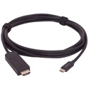 Liberty E-UCM-HDM-15F Molded USB C Male to HDMI A Male Cable - 15 Foot