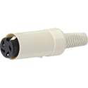In-line 4 Pin DIN Female Cable End Connector