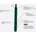 Rip-Tie M-07-EEM-BK EconoWrap w/Elastic Band 3/4 x 7 in. 200-Pack Black