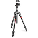 Manfrotto MKBFRTC4-BHUS Befree Advanced Travel Tripod Kit with Twist Lock and Ball Head - Carbon Fiber
