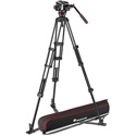 Manfrotto MVK504TWINGA 504X Fluid Video Head with Aluminum Twin Leg Tripod with Ground Spreader