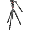 Manfrotto MVKBFRT-LIVEUS Be-free Live Aluminum Video Tripod Kit with Twist Leg Locks