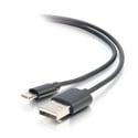 Middle Atlantic 35499 1M USB A Male to Lightning Male Sync and Charging Cable - Black - 3.3 Feet