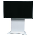 Middle Atlantic FVS-800S-WH Flexview Single Display Cart - Static with Levelers - Vesa 800 Mount -  White