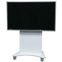 Middle Atlantic FVS-800SC-WH Flexview Single Display Cart with 4 Inch Casters - Vesa 800 Mount - White