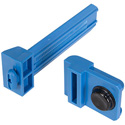 Middle Atlantic FWD-SIDECLMP-4 Forward Small Device Mounting Clamps - Blue - 4 Pack