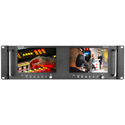 Marshall M-LYNX-702W Dual 7 Inch High Resolution Rack Mount Display with Waveform SDI & HDMI Inputs
