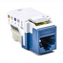HellermannTyton RJ45FC5E-BLU CAT5e 110 Punchdown Keystone Module - Blue