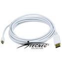 DisplayPort to Mini DisplayPort Male-Male - 15FT 32AWG - White