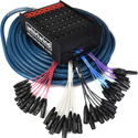 Whirlwind ME-32-10-XL-250 Medusa Elite Snake Cable 32 XLR Inputs - 10 XLR Returns (250-Foot)