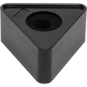 Connectronics MF-T4BK 4-inch Triangle Mic Flag Blank- Glossy Black