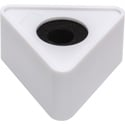 Connectronics MF-T4WH 4-inch Triangle Mic Flag Blank - Glossy White