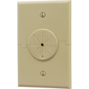 Single Gang Splitport Plus Cable Pass Through Plate with Grommet - Ivory