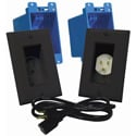 MidLite A46 In-Wall TVPower Solution Kit Black