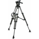Miller 3027 ArrowX 1 Sprinter II 2-Stage Carbon Fiber Tripod with Mid-Level Spread / Pan Handle and Feet