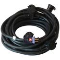 Milspec D12422050 STW 12/3 ProCap Multi-Outlet Cord - Outlets @10 Foot Intervals - Black - 50 Foot