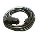 Milspec D15623010 ProPower Tri-Tap Cordset 12/3 AC Extension Cord - Black - 10 Foot