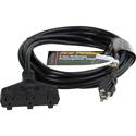 Milspec D15623025 ProPower Tri-Tap Cordset 12/3 AC Extension Cord Black 25 Foot