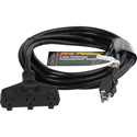 Milspec D15623050 ProPower Tri-Tap Cordset 12/3 AC Extension Cord Black 50 Foot