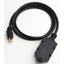 Milspec D19005771 12/3 Quad-Box with 20-Amp Receptacles Black 6 Foot