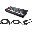 Blackmagic Design ATEM Mini Live Production Switcher Kit with HDMI/USB/CAT5 Cables for PC