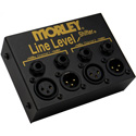 Morley MLLS Line Level Shifter 2 Channel Box with 1/4 Inch Smart Jacks