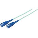 1-Meter 50/125 Fiber Optic Patch Cable Multimode Simplex SC to SC - 10-Gig Aqua