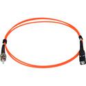 1-Meter 62/125 Fiber Optic Patch Cable Multimode Simplex ST to SC - Orange