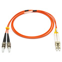 Camplex MMXD62-ST-LC-001 OM1 62/125 Multimode Duplex ST to LC Armored Fiber Optic Patch Cable - Orange - 1-Meter