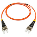 Camplex MMXD62-ST-ST-001 OM1 62/125 Multimode Duplex ST to ST Armored Fiber Optic Patch Cable - Orange - 1-Meter