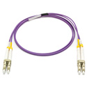 Camplex MMXDM4-LC-LC-001 OM4 50/125 10/40/100G Multimode Duplex LC to LC Armored Fiber Patch Cable - Purple -  1-Meter