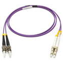 Camplex MMXDM4-ST-LC-001 OM4 50/125 10/40/100G Multimode Duplex ST to LC Armored Fiber Patch Cable - Purple -  1-Meter