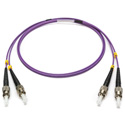 Camplex MMXDM4-ST-ST-001 OM4 50/125 10/40/100G Multimode Duplex ST to ST Armored Fiber Patch Cable - Purple -  1-Meter